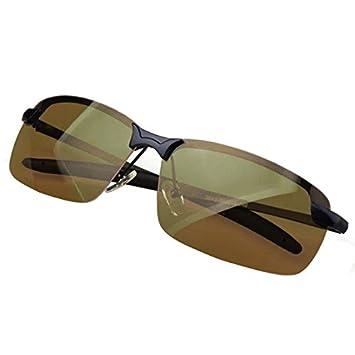 Ncient Gafas de sol de Conducción Polarizadas para Hombres Lente Amarilla Lentes de Visión Nocturna Gafas