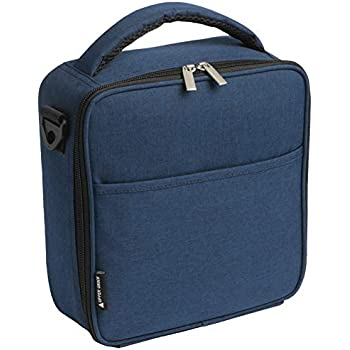 6c6b500cca3c5f UPPER ORDER Durable Insulated Lunch Box Tote Reusable Cooler Bag 25% LARGER  Greater Storage (Midnight Blue)