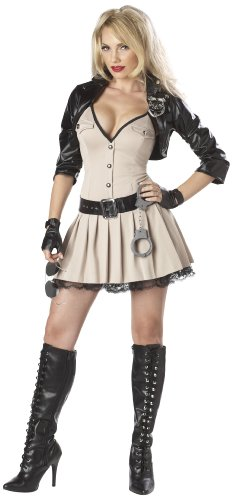 [Highway Hottie Police Adult Costume (Large 10-12)] (Highway Patrol Costume)