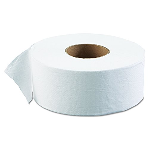Jr Tissue (Boardwalk 6101 JRT Jr. Bath Tissue, Jumbo, 1-Ply, White, 3-5/8