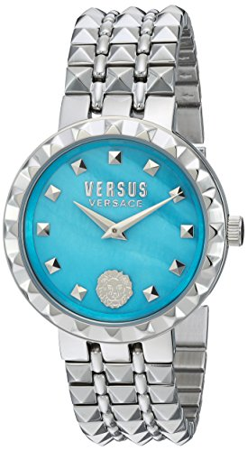 Versus by Versace Women's 'CORAL GABLES' Quartz Stainless Steel Casual Watch, Color:Silver-Toned (Model: - Versace Lion Logo