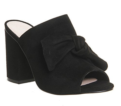 Detail Black Office Aintree Suede Mules Bow wTqCEqrIp
