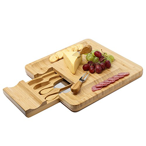 Board Cracker Serving Cutlery Set with Slide-Out Drawer Plate Knives kit - Large (Drawer Plate)