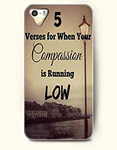 iPhone 4 4S Case OOFIT Phone Hard Case **NEW** Case with Design 5 Verses For When Your Compassion Is Running Low- Inspirtional Quote - Case for Apple iPhone 4/4s