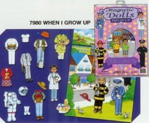Magnetic Dolls Dress-up When I Grow Up