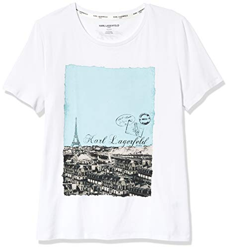 Karl Lagerfeld Paris Women's Short Sleeve Crew Neck Logo Tee