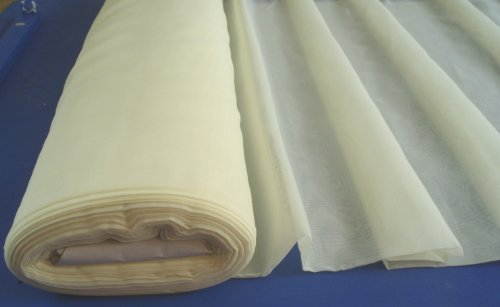 FLAME / FIRE RETARDANT VOILE- Plain Ivory / Cream Fabric Roll 50 Metres wedding drapes Crafts by Curtains and Voiles