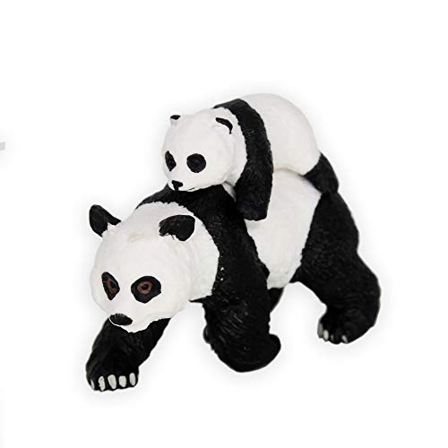 HanYoer Panda with Panda Baby Toy Figure, Panda Figure Toy Collection Playset, Cake Topper, Garden Plant, Automobile decoration