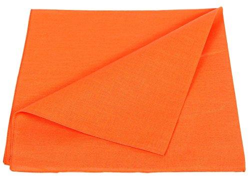 cotone Zandana 100 Alsino Bib Head Solid arancione Unicolor Bandana xTwnZWq0n