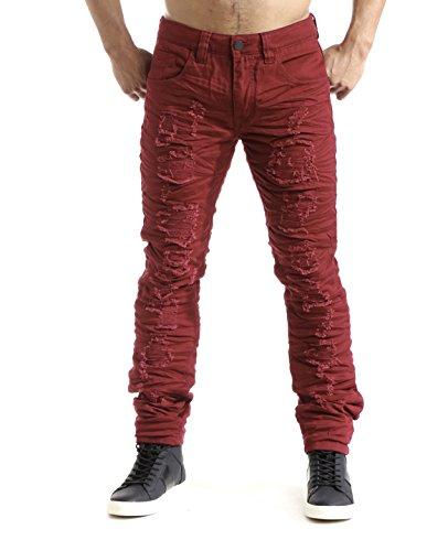 smoke-rise-mens-3d-crinkle-heavy-rip-twill-jean-pants-burgundy-34-34