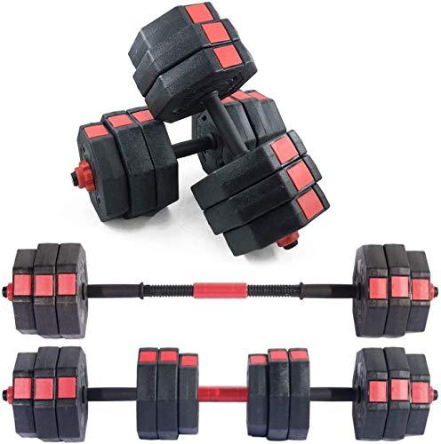 SogesPower Adjustable Dumbbells, Fitness Dumbbells 62 lbs,Pair Packing Octagonal Designed Dumbbells for Home Gym Body…
