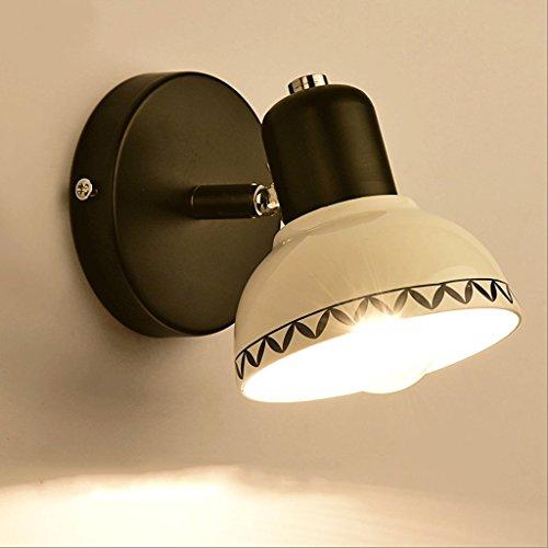 CHX Ceramics Wall Lamp - Mirror Light Bathroom Toilet Bathroom Dresser Cosmetic Mirror Aisle Corridor Bedroom Kitchen Living Room Wall Lamp LTDF (Color : Single head A) by CHX