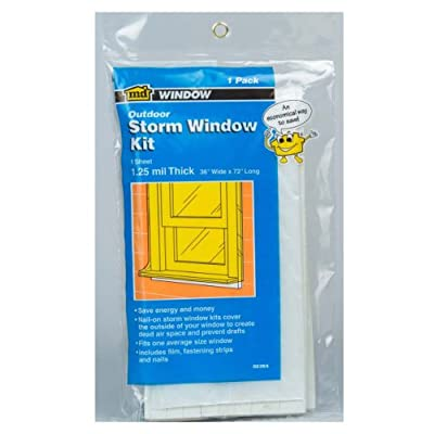 M-D Building Products 8264 3-Feet by 6-Feet by 1.25 1 Window Mil Economy Storm Window Kit