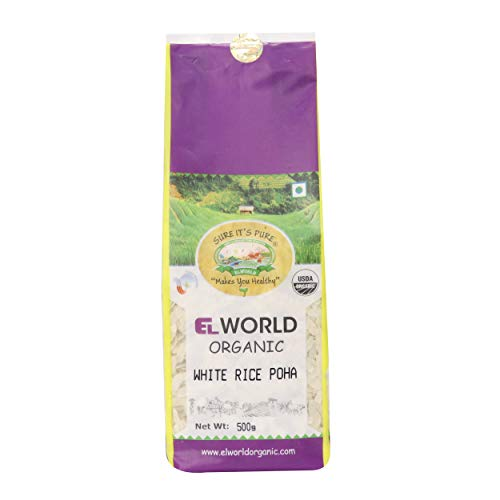 ELWORLD AGRO & ORGANIC FOOD PRODUCTS White Rice Poha (500g) – Pack of 2