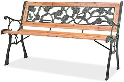 mewmewcat Banco para Jardín, con Respaldo de Diseño Rosal 122 x 51 x 73 cm: Amazon.es: Deportes y aire libre