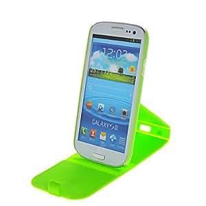 HKCFCASE Carcasa de TPU Gel Caso Funda silicona Case Para Samsung Galaxy S3 I9300 Green
