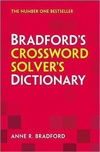 Collins Bradfords Crossword Solvers Dictionary Amazon Anne