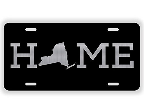 JMM Industries New York Home Vanity Novelty License Plate Tag Metal Empire State Big Apple 12-Inches by 6-Inches Empire State UV Resistant Etched Aluminum ()