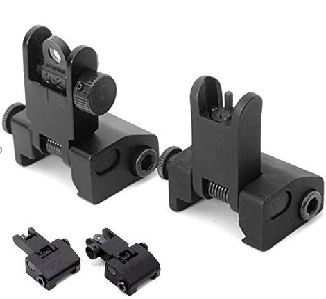 ACME Machine Flip-Open Front and Rear Iron Sight Set for Picatinny Rail