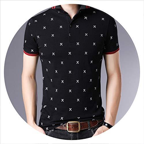 Plus Size Clothing Men's Polo Shirt Men Cotton Short Sleeve Shirt Casual Male Tops Men Polo Shirt Tees,FM2016 Black,XL ()