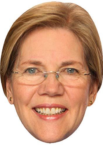 Celebrity Card Face Mask - Elizabeth Warren - Ready To Wear - Democratic Candidate Senator
