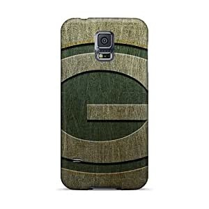 Protective Hard Phone Covers For Samsung Galaxy S5 With Unique Design Fashion Green Bay Packers Skin Top10cases