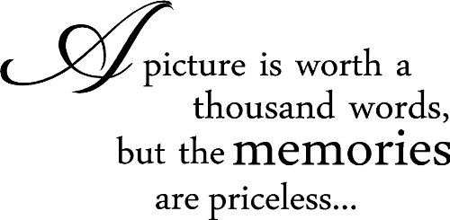 (A picture is worth a thousand words, but the memories are priceless... cute wall art wall sayings)