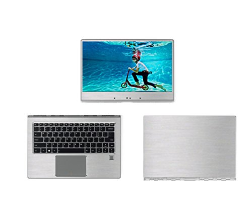 Silver Brushed Aluminum skin decal wrap skin case for Lenovo yoga 910 14 Touch Laptop
