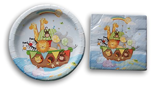 13' Round Plate (Noahs Ark Party Supply Kit - Napkins and Plates)