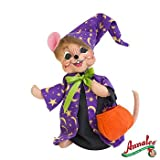 Annalee Mobilitee Doll Halloween Trick or Treat Wizard Mouse 6""