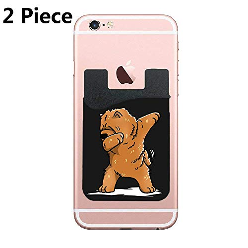 hone Wallet, Stick on Wallet for Credit Card, Business Card and Id, Works with Almost Every Phone, iPhone, Android and Most Smartphones,Funny Dabbing Chow Chow Dog - 2 Piece ()
