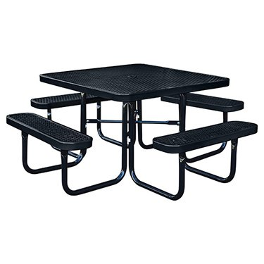Amazon kirby built products 46 square thermoplastic coated kirby built products 46quot square thermoplastic coated metal supersaver commercial picnic table portable watchthetrailerfo