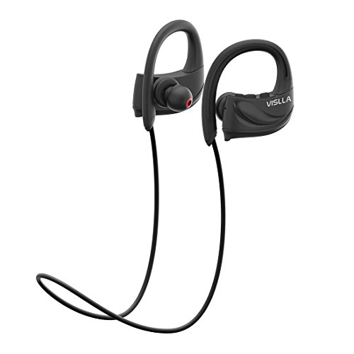 Vislla Bluetooth Headphones,Best IPX7 Waterproof Wireless Sports Earphones Stereo with Mic Earbuds Support 8-Hour Playtime and Noise Cancellation