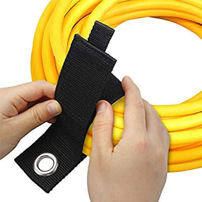 9 Pack Extension Cord Holder organizer Heavy Duty Storage Straps Fit with Garage Hooks and Pool Hose Hangers by LuBanSir