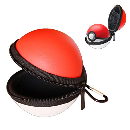 Portable Carrying Case for Nintendo Switch Pokemon Ball Plus Controller, 2in1 Accessory Bag for Pokémon,Game for Nintendo Switch (Red White)