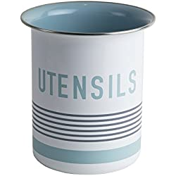 Jamie Oliver Utensil Holder - Container and Organizer for Kitchen Tools - White / Teal