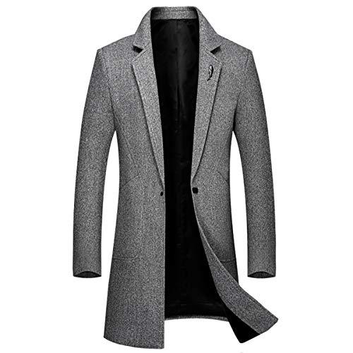 Trench coat Classique Boutonnage Manteau Caban Chaud Orange Slim Gris Fit Sliktaa Long l Homme De Hiver Xxs Laine Mode Simple Noir PqZdnnwOYX
