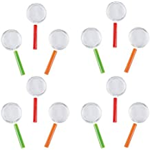Kidsco Plastic Magnifying Glass - Pack of 12 - 4.25 Inches Assorted Colors - Mini Handheld Magnifying Glass Kids Great Party Favors, Bag Stuffers, Fun, Toy, Gift, Prize, Piñata Fillers