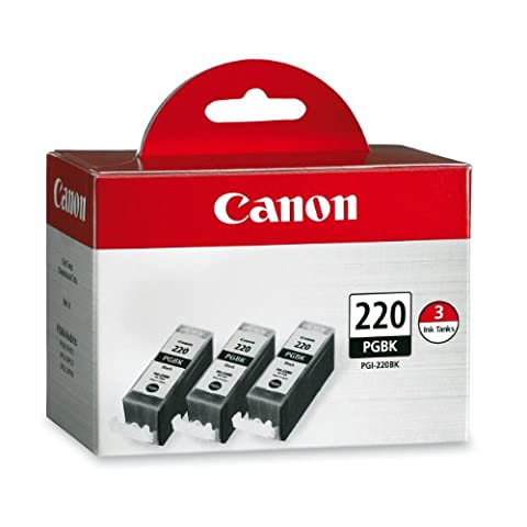Canon PGI-220 Combo Pack - Triple Pack (Black) (Cannon Pixma Mp560 Ink)