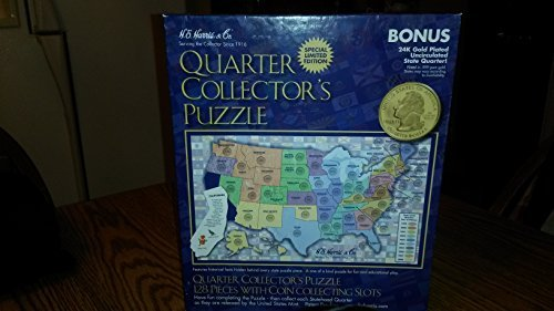 HE Harris US State Quarter Collector's Map (State Cover Coin Quarter)