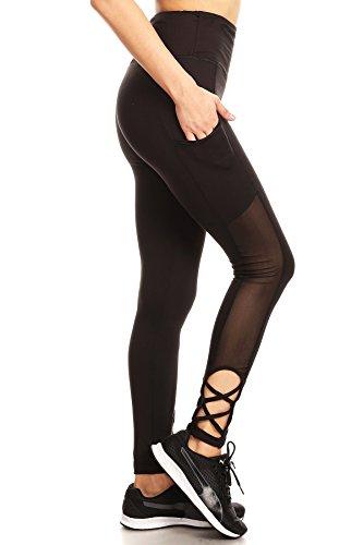 e138ba0bdf442 Buy YADO High Waist Tummy Control Legging With Side Pocket and Strap ...