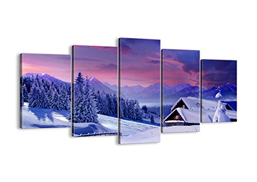 Winter Canvas wall art - 5 Piece - multipanel wall art - home wall art deor