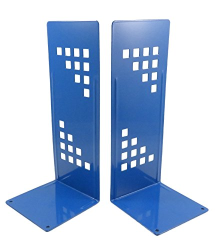 Geometric Tall Non-Skid Metal Bookends 10