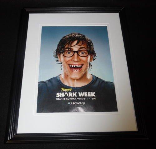shark-week-2008-discovery-channel-framed-11x14-original-advertisement-b