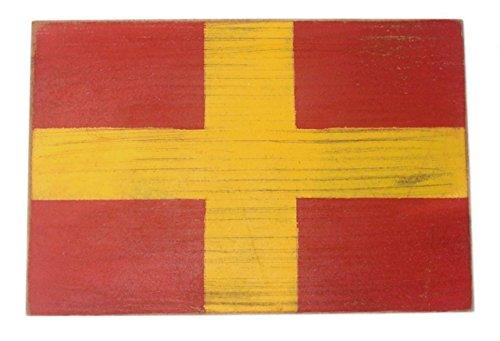 Hampton Nautical wood-R-16 Letter R Wooden Nautical Alphabet Flag Decoration 16