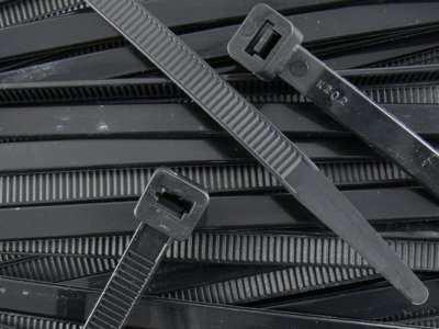 Heavy Black Cable Ties 120lbs