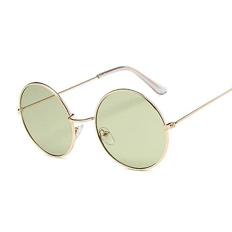 Yangjing-hl Gafas de Sol ovales Retro Mujer Diseñador de ...