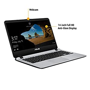 ASUS VivoBooK Intel Core i5 8th Gen 14-inch Thin and Light Laptop (4GB/16GB Optane/1TB HDD/Windows 10/Stary Gray/1.55 Kg), X407UA-EB419T
