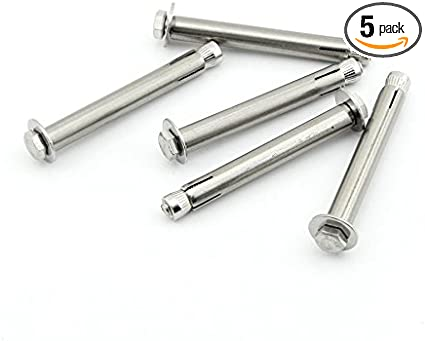 mm Stainless Steel Expansion Bolt Screws Anchors Bolts 6pcs DAZISEN M6x 150-300