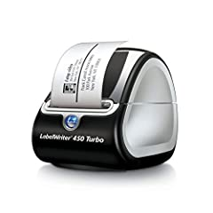 The LabelWriter 450 Turbo Label Printer not only prints up to 71 four line address labels per minute, but prints postage too. Customize and print address, shipping, file folder, and barcode labels, plus name badges, and more straight from you...